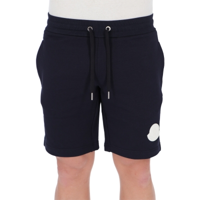 MONCLER SHORTS IN FRENCH TERRY COTTON