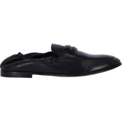 DOLCE & GABBANA CALFSKIN LOAFERS WITH BRANDED TAG