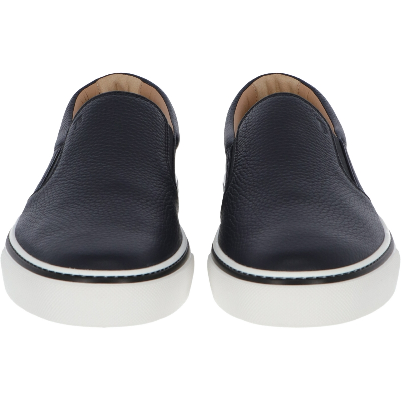 TOD'S HAMMERED LEATHER SLIP-ON