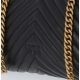 LADY PUFF QUILTED CHEVRON NAPPA BAG