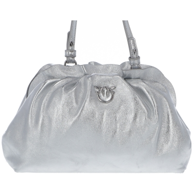 MINI CHAIN FRAIMED METALLIC NAPPA BAG