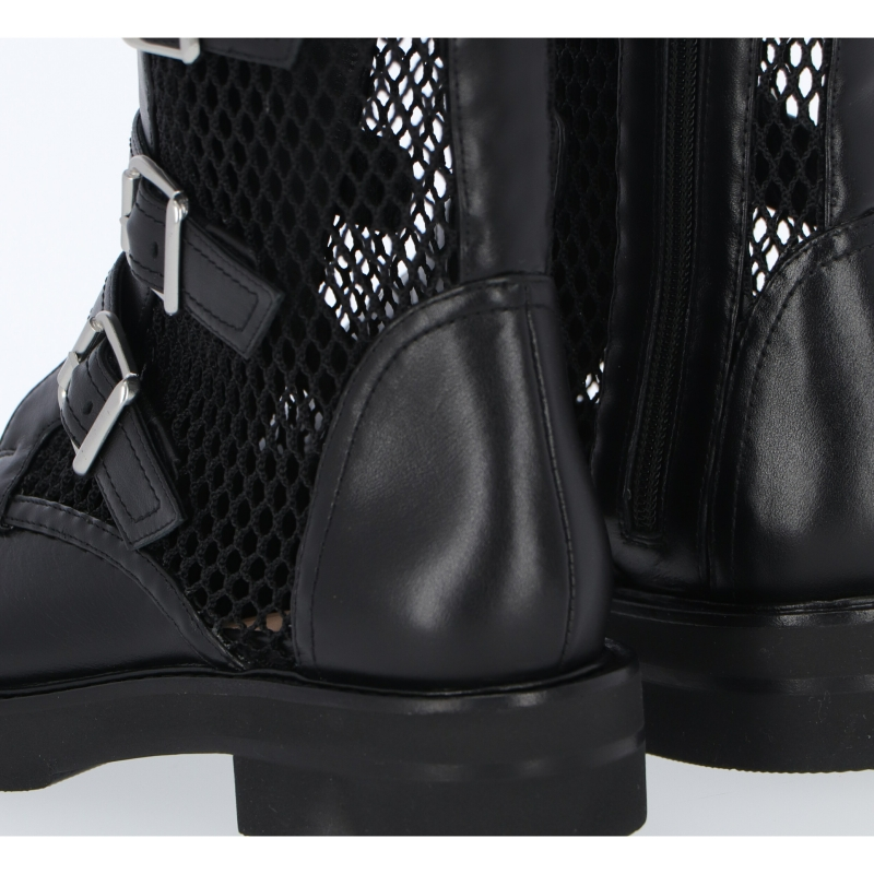 LEATHER SYDNEY ANKLE BOOTS WITH ZIP