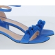 AMELINA SUEDE SANDAL WITH DECORATIVE MAXI CHAIN