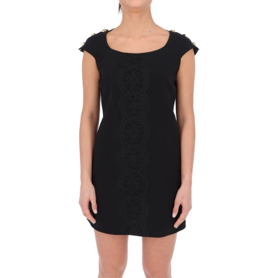 SHORT DRESS WITH DECORATIVE BUTTONS