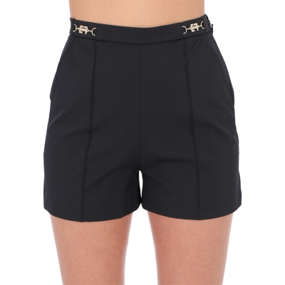 OTTOMAN SHORTS WITH LOGOED CLASPS