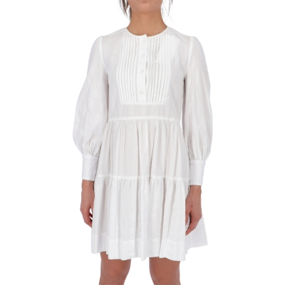 DONDUP WHITE COTTON DRESS
