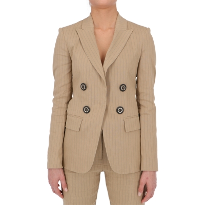 FULMINE 1 LINEN BLEND STRIPED JACKET