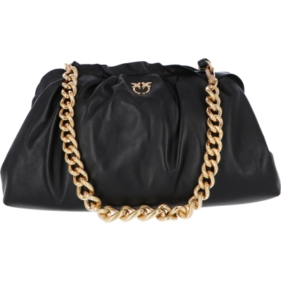 BORSA CLUTCH MAXI CHAIN IN PELLE