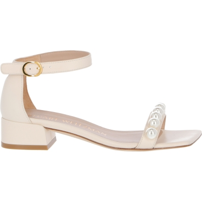 NUDISTJUNE LEATHER SANDAL WITH PEARL