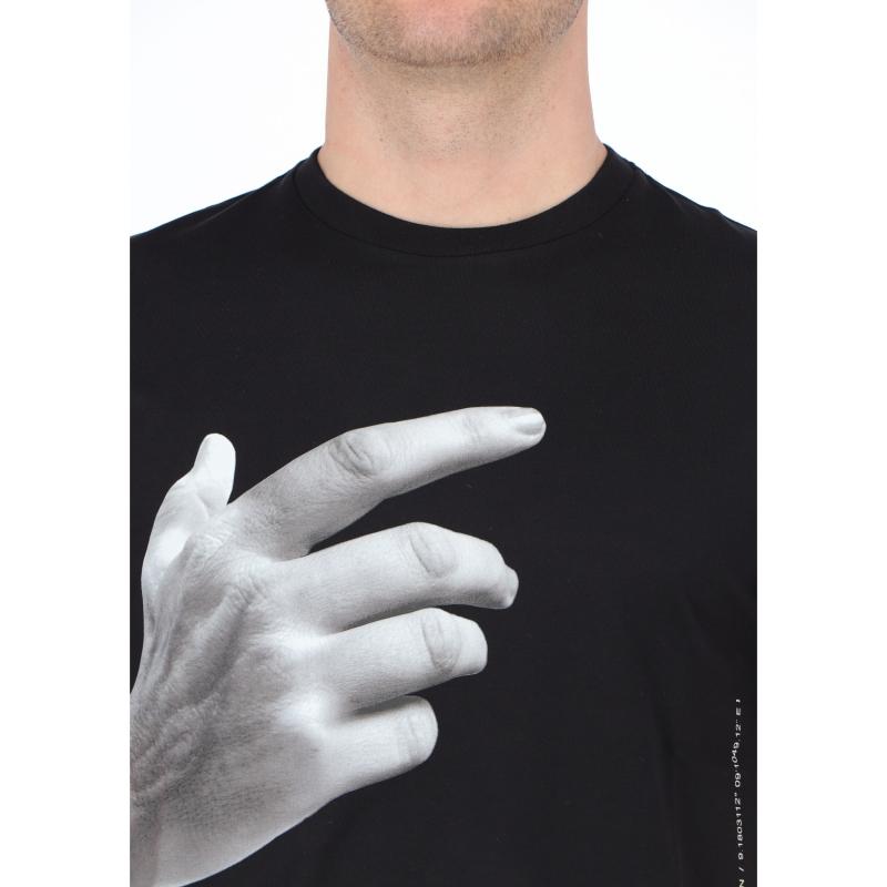 """NEIL BARRETT """"THE OTHER HAND SERIES /01"""" COTTON T-SHIRT"""