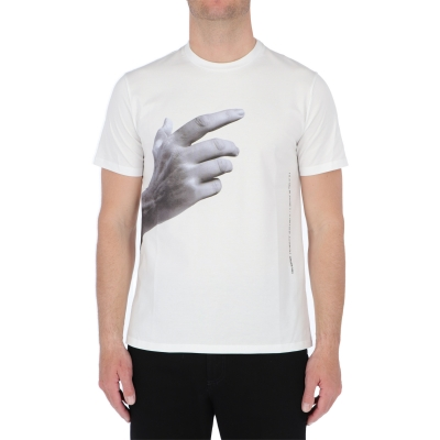 """T-SHIRT IN COTONE """"THE OTHER HAND SERIES /01"""" NEIL BARRETT"""
