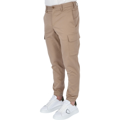 NEIL BARRETT MINIMALIST COTTON MODAL SKINNY CARGO TROUSERS