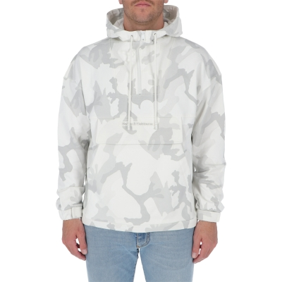 DOLCE & GABBANA JERSEY HOODIE WITH CAMOUFLAGE PRINT