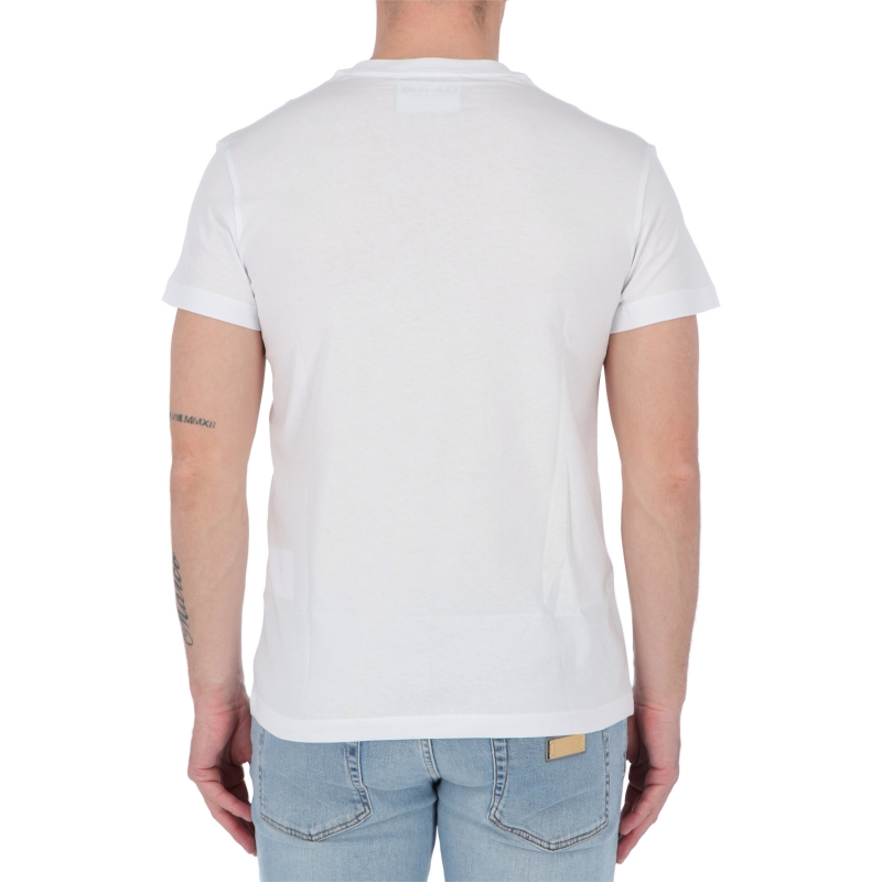 T-SHIRT CON STAMPA V-EMBLEM VERSACE JEANS COUTURE