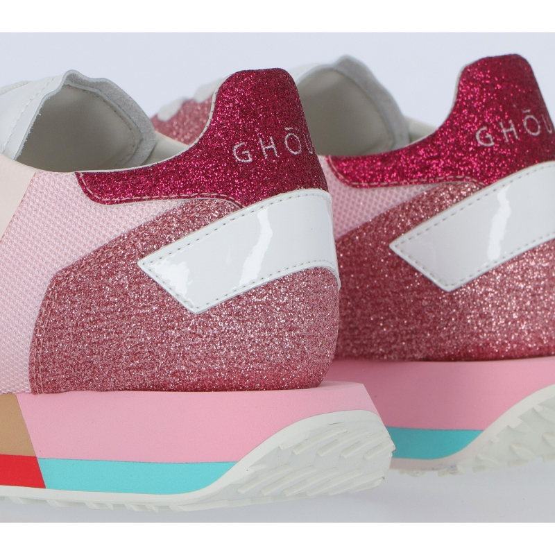 STAR LEATHER AND FABRIC SNEAKERS