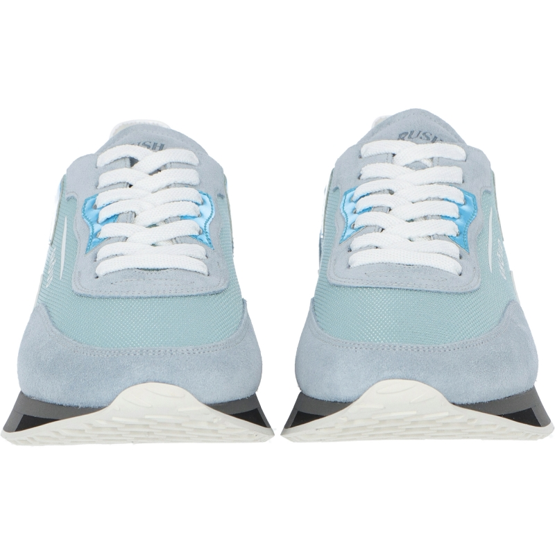 RUSH LEATHER AND FABRIC SNEAKERS