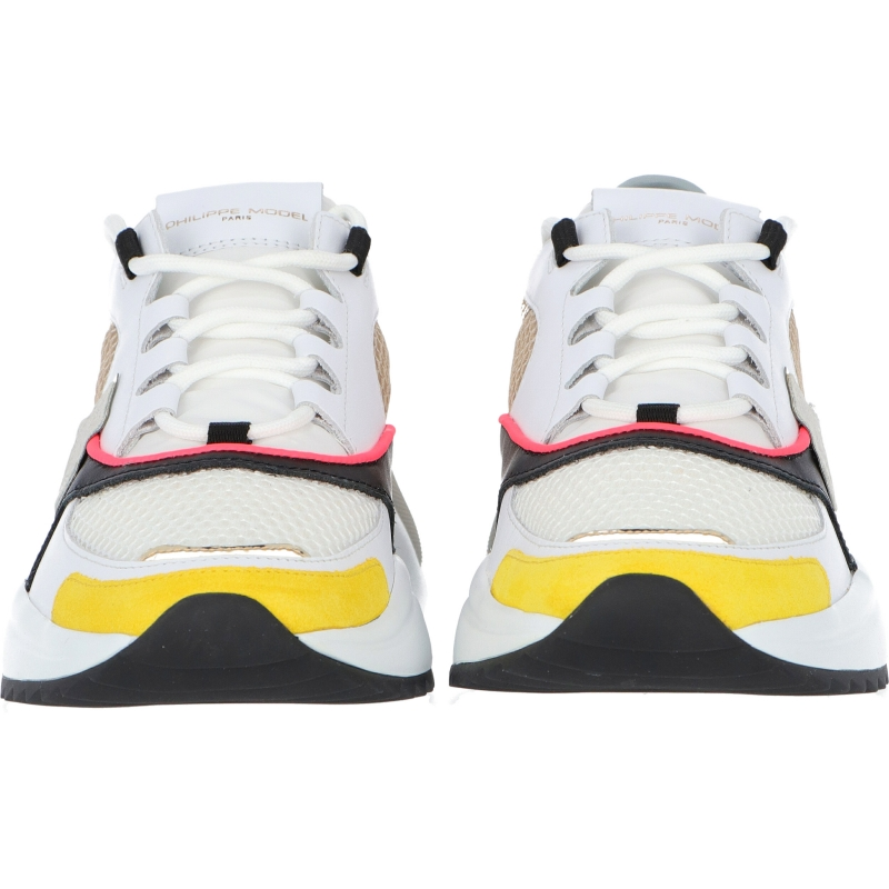 EZE LEATHER AND FABRIC SNEAKERS