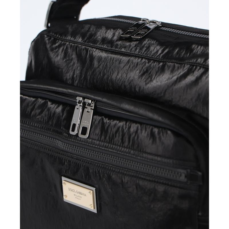 DOLCE & GABBANA NERO SICILIA MESSENGER BAG WITH BRANDED TAG