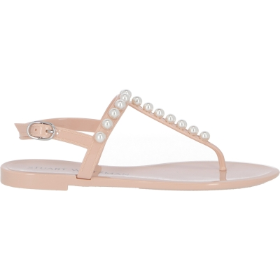 GOLDIE JELLY SANDALS WITH PEARLS