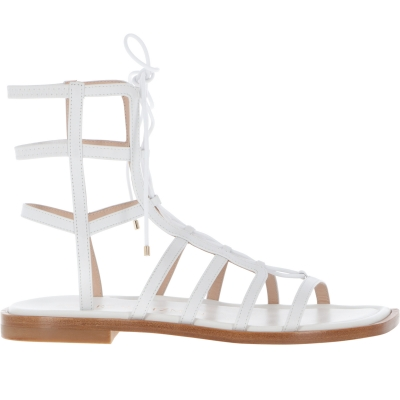 KORA LACE-UP LEATHER SANDALS