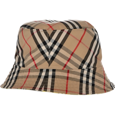 CAPPELO BUCKET REVERSIBILE IN COTONE BURBERRY