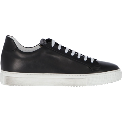 DOUCAL'S CALFSKIN LEATHER SNEAKERS