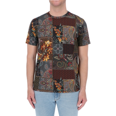 T-SHIRT IN COTONE PATCHWORK ETRO