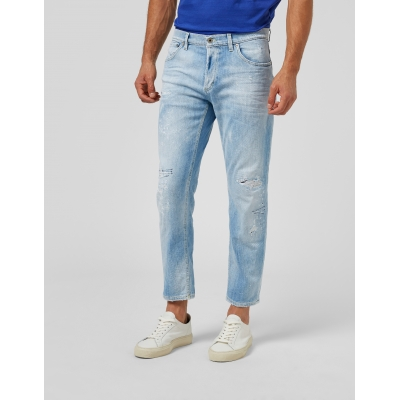 DONDUP BRIGHTON CARROT FIT JEANS IN ECO DENIM