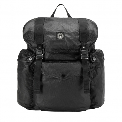 STONE ISLAND MUSSOLA GOMMATA CANVAS PRINT BACKPACK