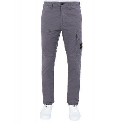 STONE ISLAND CARGO PANTS IN STRECH COTTON TWILL