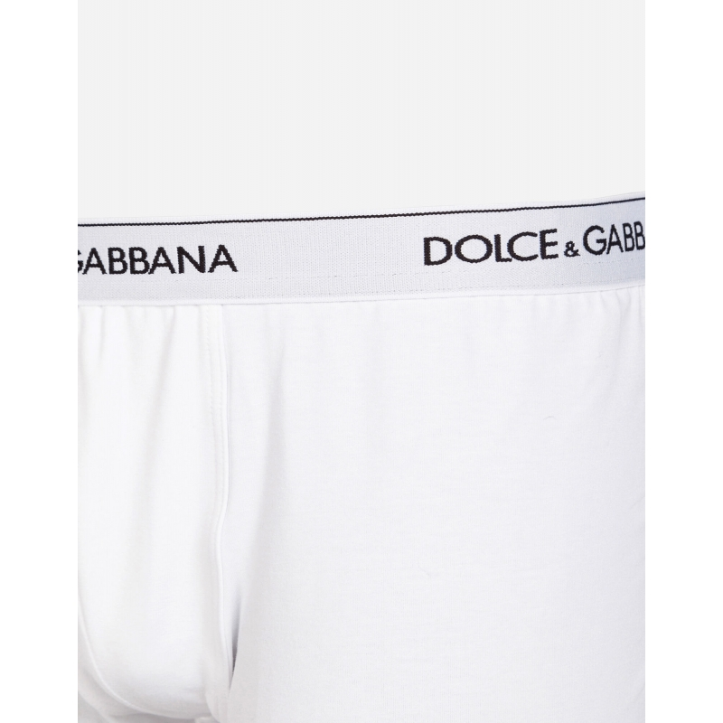 DOLCE & GABBANA BI-PACK BOXERS IN STRECH COTTON