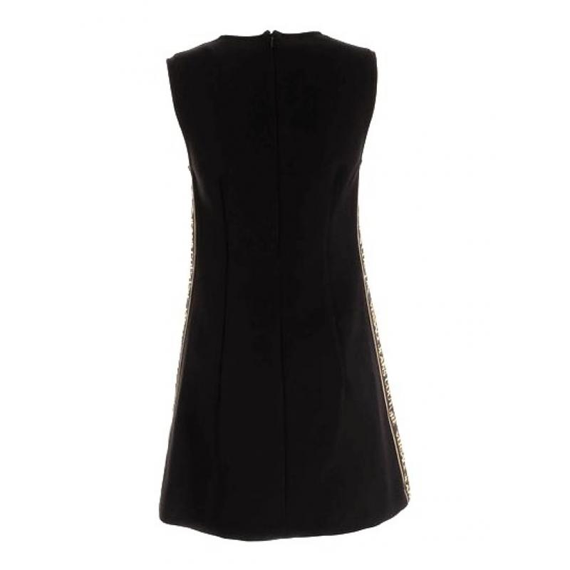 BRANDED BANDS DRESS IN BLACK