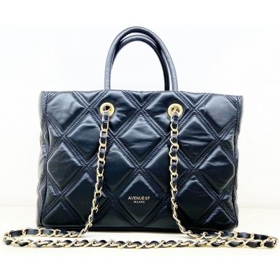 LEILA LEATHER SHOPPING BAG