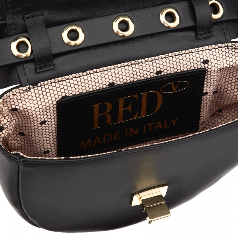 BELT BAG IN PELLE CON ROUCHES RED VALENTINO