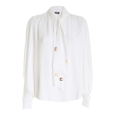 SOFT VISCOSE BLOUSE WITH GOLD DETAILS