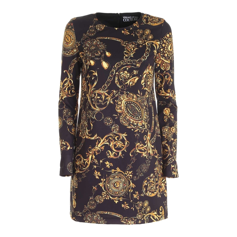 BAROQUE PRINTED JERSEY DRESS