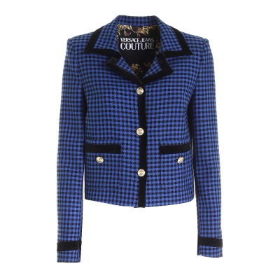 VICHY CHECKED JACKET WITH DECORATIVE BUTTONS FASTENING