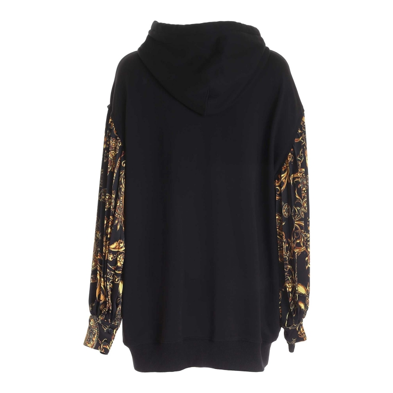 SWEATER-DRESS WITH LONG PRINTED SLEEVES