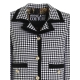 VICHY CHECKED JACKET WITH DECORATIVE BUTTONS