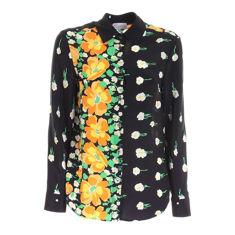 FLOWER PRINTED SILK DRESS