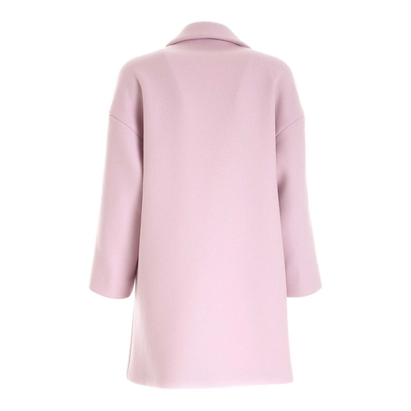 WOOL COAT WITH RIBBON
