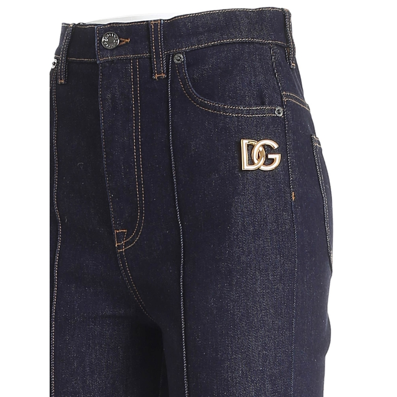 FLARED FIT JEANS WITH DG LOGO