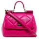 SICILY BAG MADE OF QUILTED ARIA CALF LEATHER