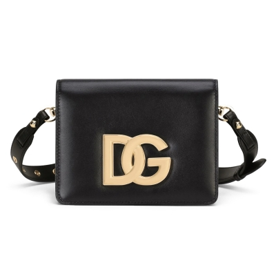 3.5 CALF LEATHER BAG WITH LOGO
