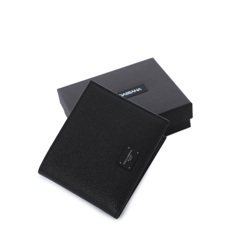 DAUPHINE CALFSKIN BIFOLD WALLET WITH BRANDED PLATE