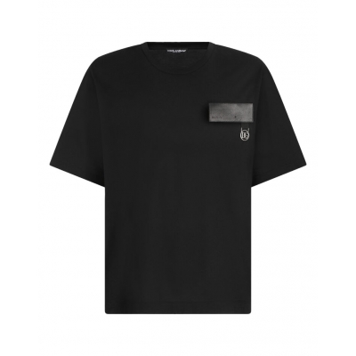 T-SHIRT IN COTTONE CON PATCH DG