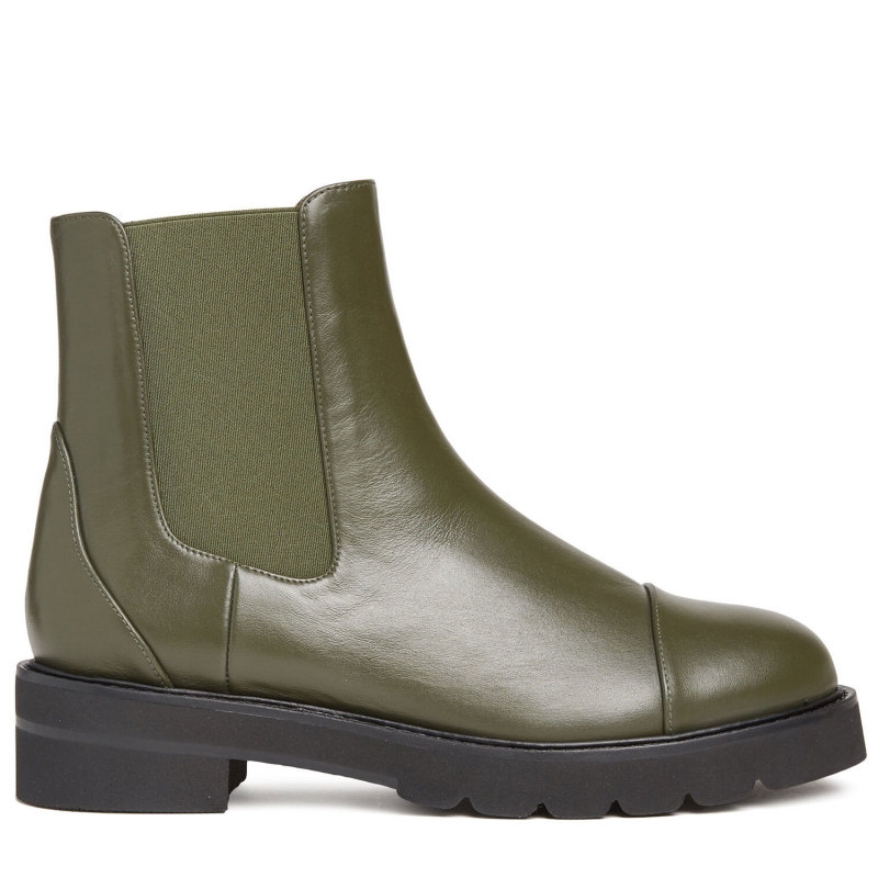 FRANKIE LEATHER ANLKE BOOTS