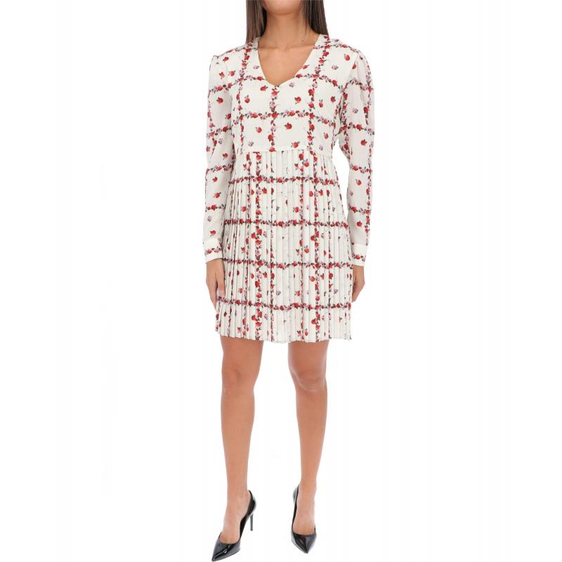 LAS ROSAS PRINTED GEORGETTE DRESS