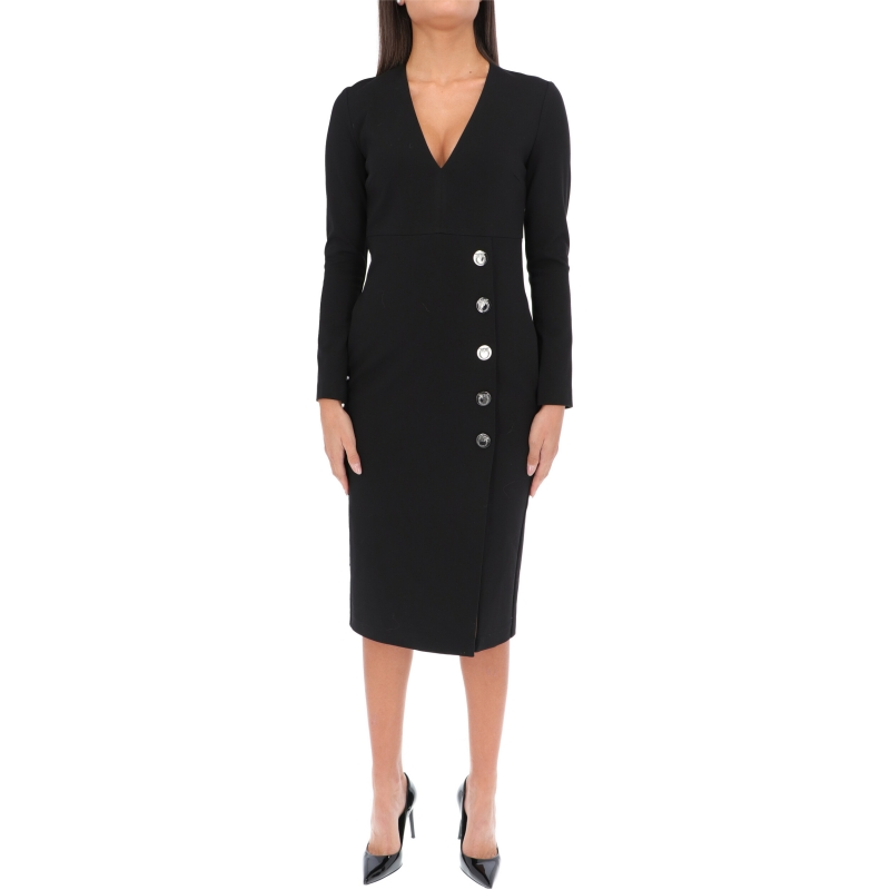 JERSEY DRESS WITH DECORATIVE BUTTONS