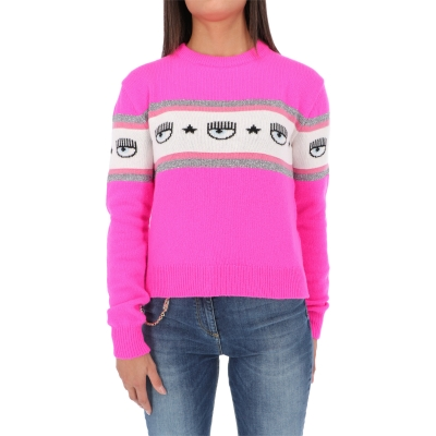 CASHMERE BLEND PULLOVER WITH JACQUARD LOGO